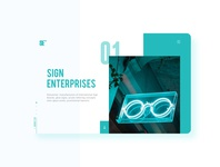 Sign Enterprise | Website UI