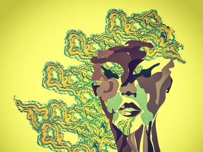 Patch of green wacom adobe illustrator nature logo digitalart painting vector graphic design illustration design