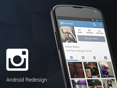 Instagram for Android instagram android ui redesign experiment