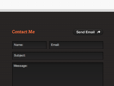 New Footer footer portfolio contact feild