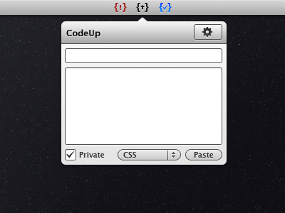 CodeUp codeup ui menubar icon app