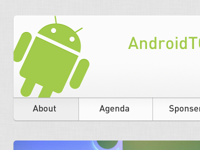 Android TO Conference header navigation android