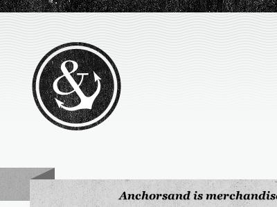 Anchorsand V1 anchorsand ampersand anchor waves black grey ribbon badge