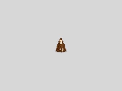 Goró gorilla icon pixel
