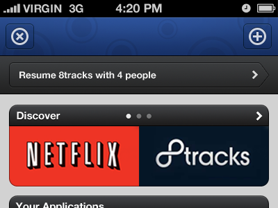Unused app interface clik iphone ui ux