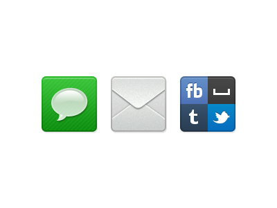 Sharing Icons icons messages email social