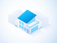 Service icon for a building company