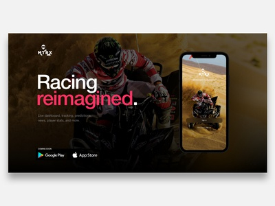 Racing App Header