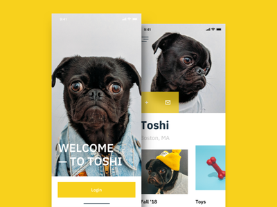Dog Shopping App pet puppy minimal fashion shopping app shopping pug dog ecommerce ui ux ui design приложение ios iphone ui typography дизайн mobile app design