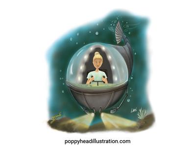 Mermaid Girl Searching