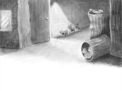 Rats 4 black and white digital illustrator anthropomorphic childrens illustration digital painting digital art illustration childrens book digital art
