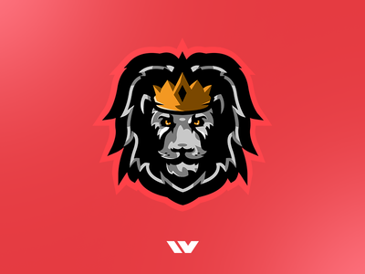 TrueKings Lion Mascot Logo lion logo lion illustrator gaming logo logo design k4dude illustration mascot logo mascot logo
