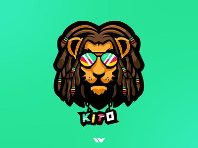 Jamaican Lion Mascot Logo mascot logo photoshop illustrator unique lion illustration logo mascot