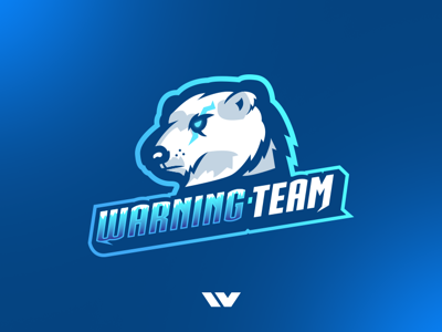 Polar Bear Mascot Logo sports esports sports logo esports logo k4dude polar bear bear photoshop illustrator illustration design logo design mascot mascot logo logo