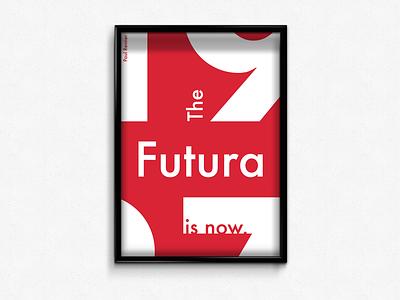 Futura typeface poster futura typography type poster design design