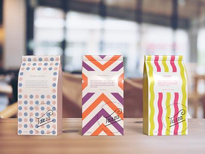"""Tazza"" coffee packaging design branding graphic design dailylogochallenge type typography logo design logo packagingdesign packaging packagedesign hand lettering handlettering dribbbleweeklywarmup"