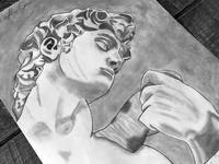 "Michelangelo's ""David"" Sketch"