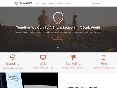 Illuminate Media Website ui web design branding responsive design ux