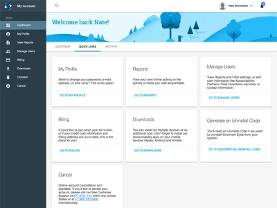 Material My Account material design ui web design responsive design ux