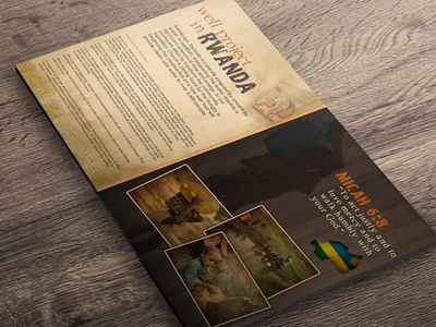 Well Project - Food For The Hungry africa expedition church graphic design flyer