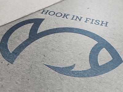 Hook In Fish fish illustration logo