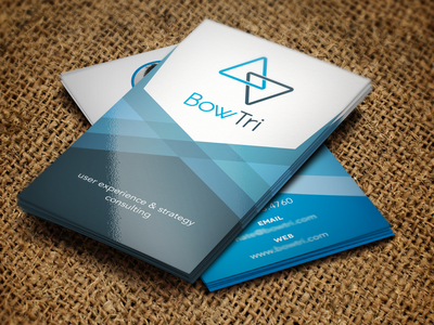Business Card — BowTri logo print graphic design business card ux
