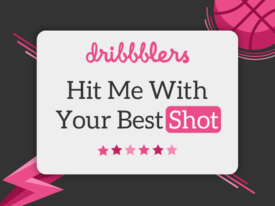 Hit Me With Your Best Shot ball shot illustration dribbble