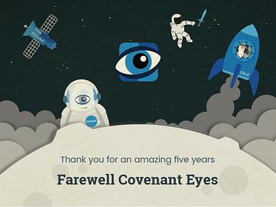 Farewell space farewell yeti illustration