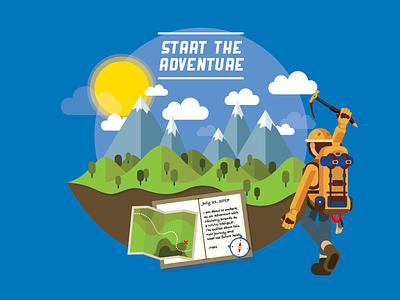 Start The Adventure journey adventure illustration