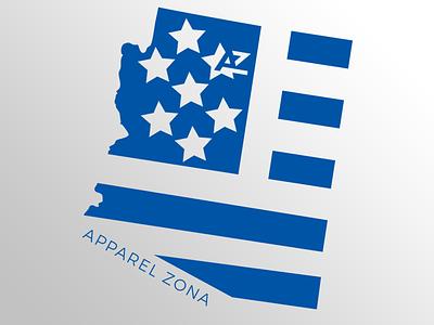 Patriotic flag az stars state apparel