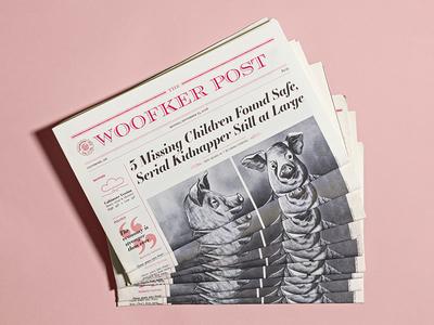 Fictional Newspaper Design brand victorian design newspapers newsprint narrative print type setting type graphic design illustration editorial illustration newspaper editorial design