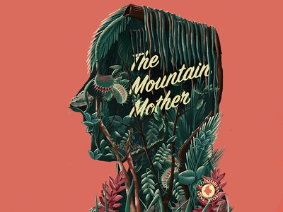 The Mountain Mother graphic  design book design cover book cover artwork cover art typogaphy design digital illustration photoshop drawing editorial illustration editorial illustration