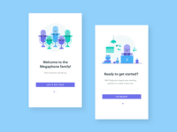 Megaphone Onboarding Illustrations