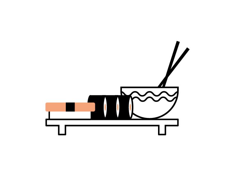 Sushi Icon ramen japan icon illustration sushi