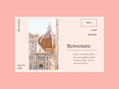 Italian Wedding Website