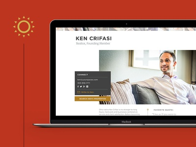 Spaces Agents Page real estate grid geometric web design minimal clean ui