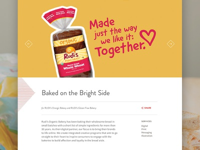 Rudi's Slider grid bakery bread rudis slider ui web design