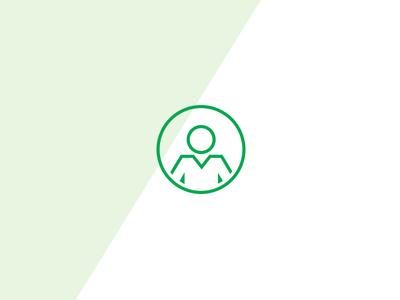Geometric User Icon geometric web design ui account user iconography icon