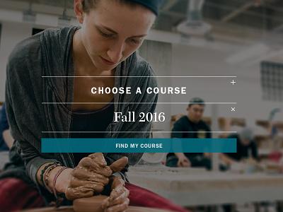 Choose a Course class hero filter web design ui