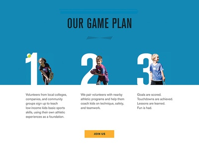 Coaching Process 2 sports action steps progress process minimal web design ui
