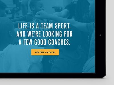 A Few Good Coaches minimal headline coach nonprofit ui web design copy