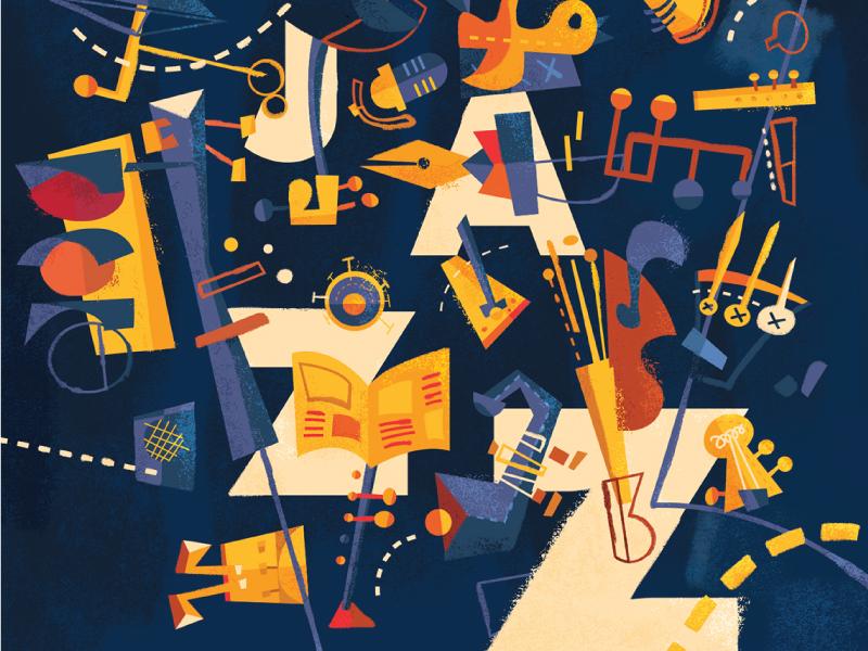 CalArts Jazz 26th Annual Album album cover capitol records calarts illustration vector imagemaking abstract jazz