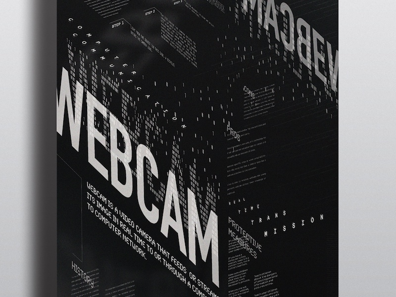 Typographic Poster: Webcam Connotative Poster 2015 calarts connotative webcam typographic poster typography poster