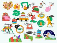 Persian New Year Sticker Pack - Nowruz