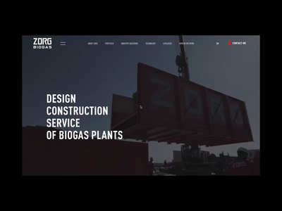Zorg Corporate website engineering construction loading hover mainpage composition design animation web ui