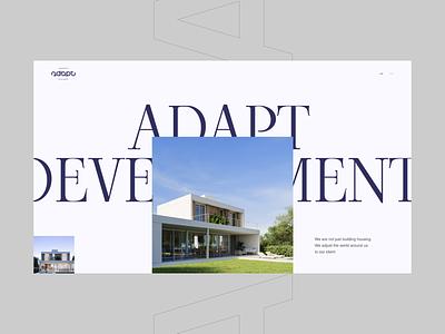 ADAPT Development. Concept UI webdesign design web composition typography corporate design uiux ui website design website building development