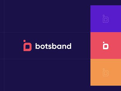 Branding for Botsband. Logotype. Identity chat logo chat app chatbot chat presentation design pattern corporate identity colorful naming typography illustration branding logo design