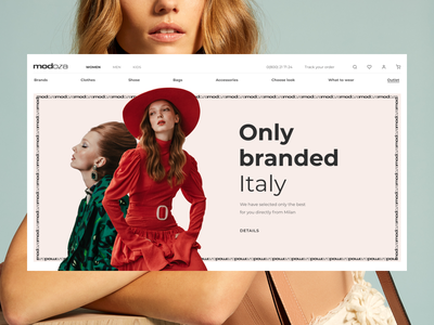 E-commerce Modoza. Concept e-commerce branding design italy main page clothes e-commerce shop e-comerce gallery slider transition website typography animation composition web uidesign uiux ui