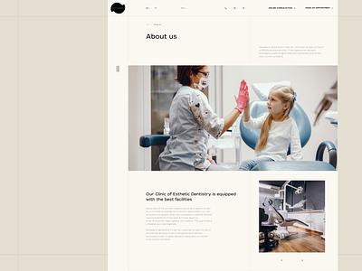 DentaDerm. About us. Website. about us branding fancy design web design corporate website clinic dentistry website typography composition design web uxui ui