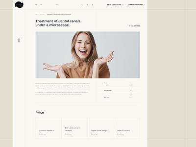 Denta Derm. One service. Website dentistry smile services lines uiux design typography composition website corporate website dental clinic web ui
